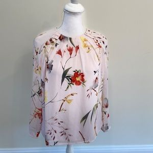 TED BAKER Pink Flowy Top Blouse SZ TED 2 US 4-6
